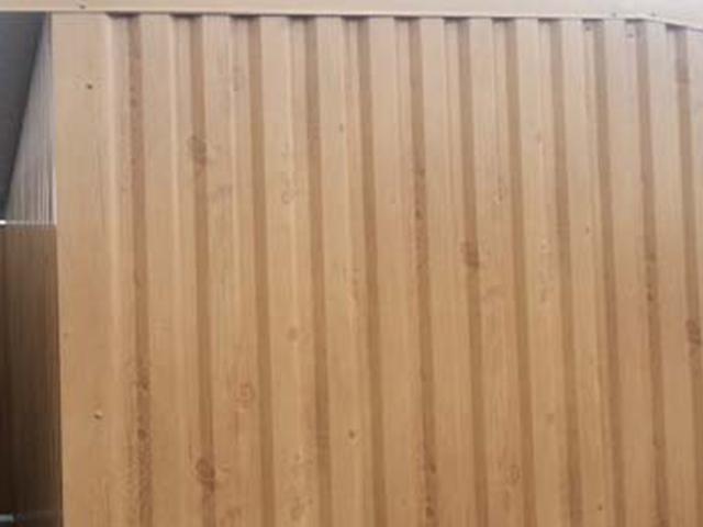 Abris métal - Coloris ton bois
