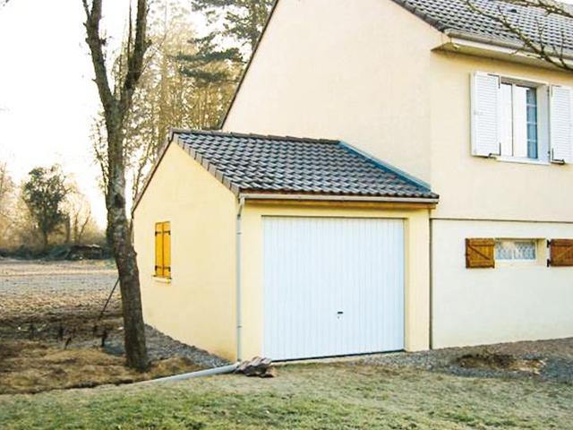 Garage béton – Double pente 3,14m*5,60-6,97m avec option Auvent– Mattei Saint Victor Montluçon