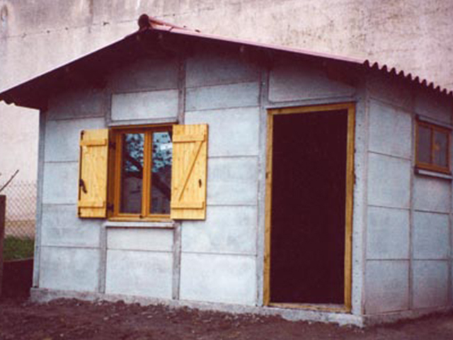 Garage demontable beton interesting garage pvc pliant a - Garage en prefabrique plaque de beton ...
