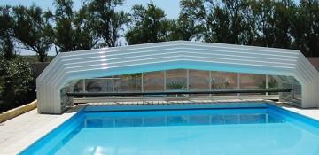 Abri de piscine – quintessenz- mi haut