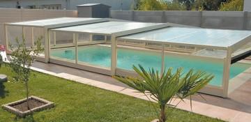 Abri de piscine – triptik – mi-haut
