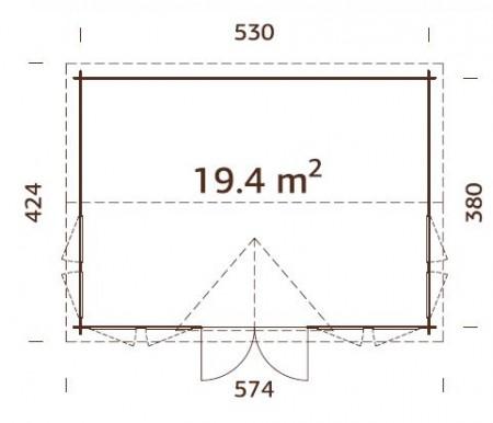 Claudia-19.4-m²-450x386