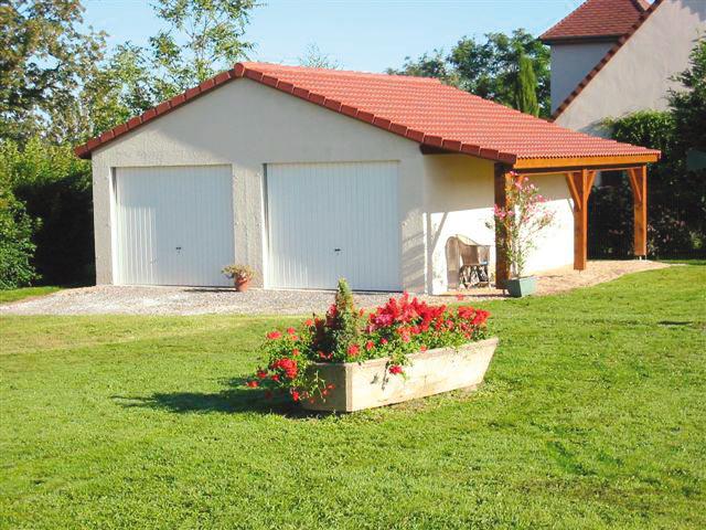 Garage béton – Double pente 6,08m*5,60-6,97-8,35-9,72-11,10m avec option Bûcher – Mattei Saint Victor Montluçon