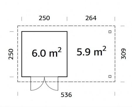 Lara-6-m²-plan-2-450x365