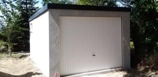 Garage béton – Simple pente 3,14m*5,60m avec option auvent– Mattei Saint Victor Montluçon