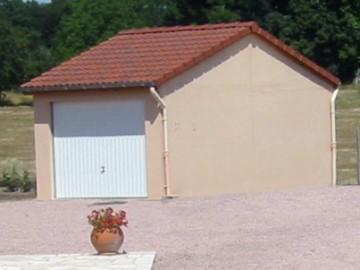 Garage béton – Double pente 3,14m*5,60-6,97-8,35-9,72-11,10m avec option Bûcher– Mattei Saint Victor Montluçon