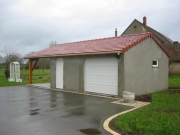 Garage béton – Double pente 7,56-9,02-11,96m etc*5,60-6,97m avec option Auvent – Mattei Saint Victor Montluçon