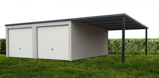 Garage béton – Simple pente 4,63m*5,60m avec option auvent– Mattei Saint Victor Montluçon