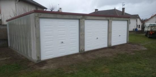 Garage béton – Simple pente Largeur : Largeur : 7,56-9,02-11,60m…*5,60m avec option auvent– Mattei Saint Victor Montluçon